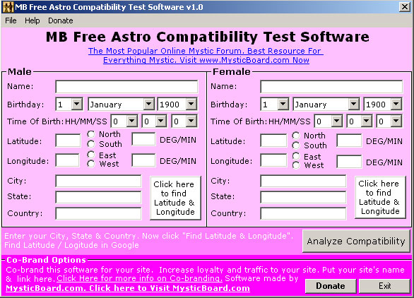 Product picture Astrology Compatibility Suite