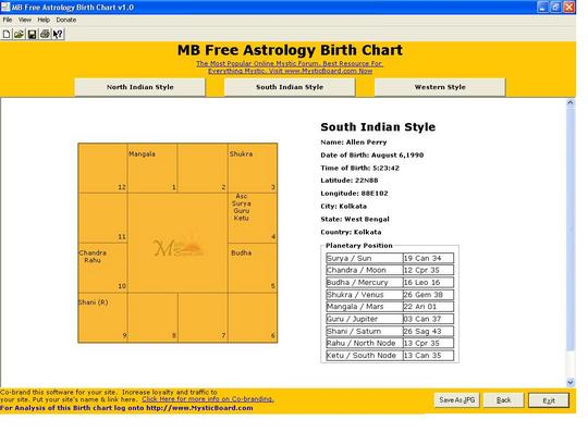 Product picture Astrology Natal Birth Chart