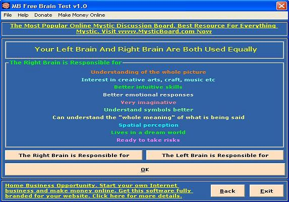 Product picture Brain Test Software