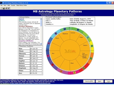 Product picture Astrology Planetary Patterns Chart